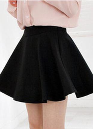 Черная юбка-солнце