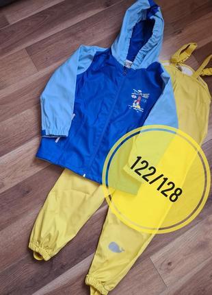 Комплект грязепруф  куртка и полукомбинезон 122/128 р. kuniboo lupilu