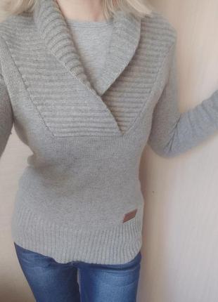 Шикарный свитер джемпер кашемир ангора шерсть