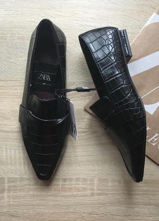 Новые туфли лоферы зара