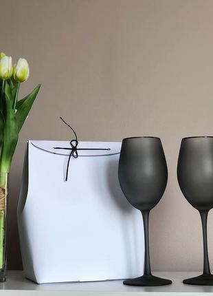 """Бокали """"black satin"""" для вина"""
