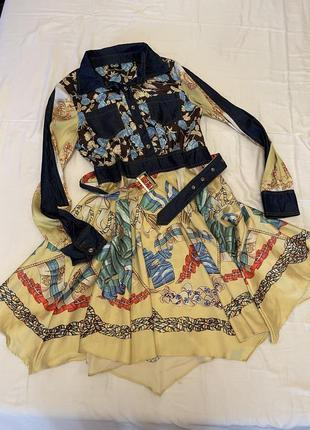 Платье сарафан шелка атлас бренд
