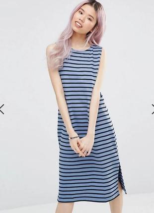 Стильное платье миди от датского бренда ganni , размер s, 100% хлопок