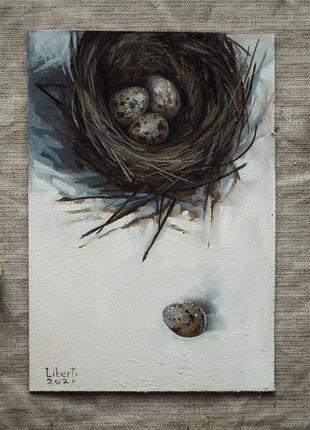 Картина с гнездом