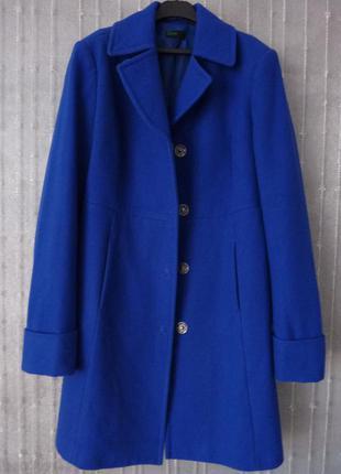 Синее пальто benetton, шерсть