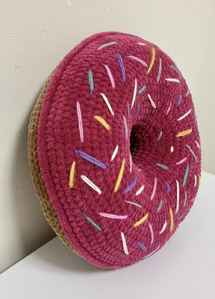 Декоративна подушка пончик