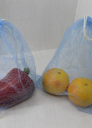 Эко-мешочки, мішечки для горіхів, овочів і фруктів, багаторазові пакети, еко-торбинки