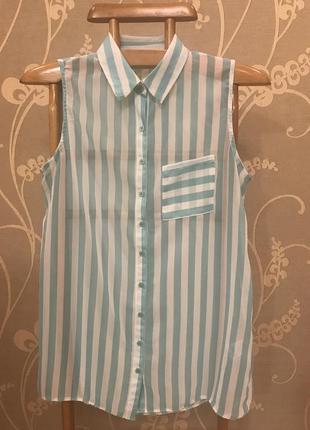 Очень красивая и стильная брендовая блузка в полоску 19.