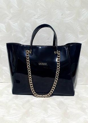 Красивая лаковая сумка guess,оригинал