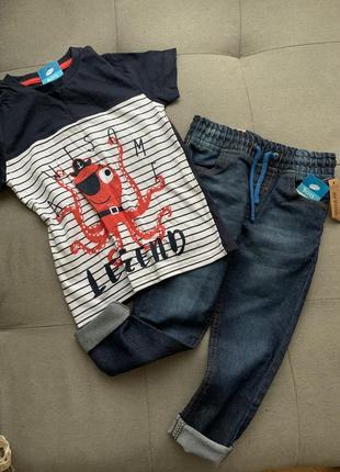 Набор джинсы футболка pepco