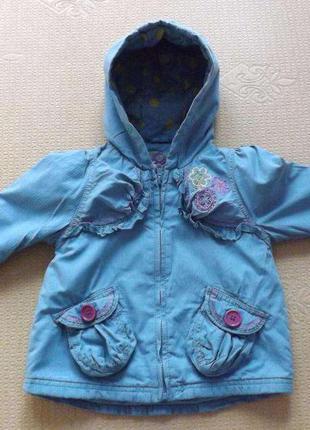 Куртка-парка демисезонная для девочки next, 1-2 года