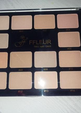 Легендарная пудра бренда флёр ffleur powder палетка все оттенки!!!