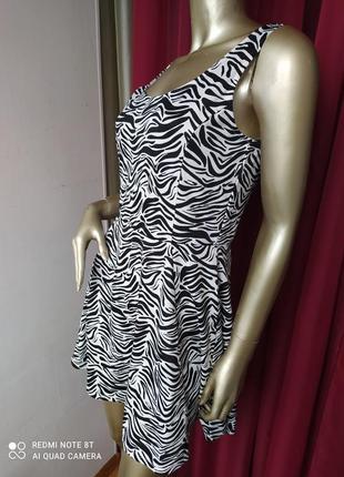"""🦓🦓🦓трендовое трикотажное платье принт зебра """"хижий"""" с шикарной спинкой h&m"""