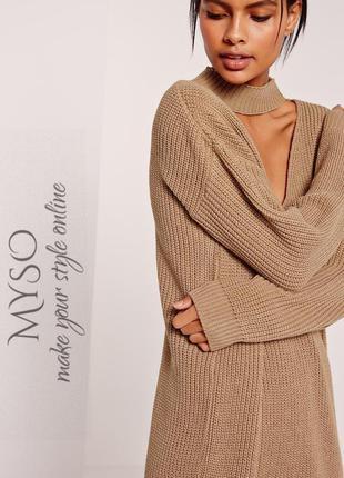 Oversize платье - свитер с чокером