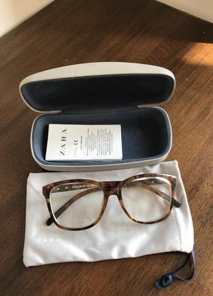 Имиджевые очки zara, полный комплект, унисекс
