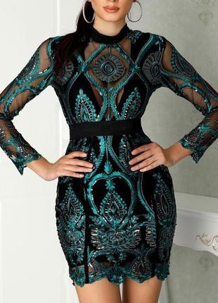 Изумрудное платье с вышивкой черное мини платье по фигуре короткое платье
