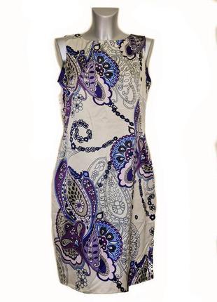 Платье шелковое, цветы, молния, сукня kor@kor. код п34771