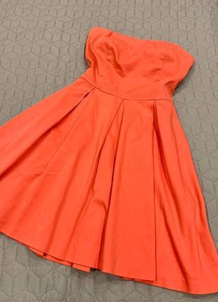 Легкое хлопковое платье бюстье bershka полусолнце