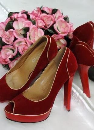 Женские туфли platino (21262-red)