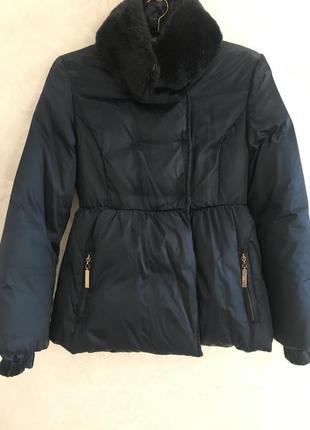 Легкий пуховик пуховая куртка парка бренд  elisabetta franchi оригинал!