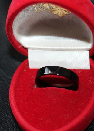 Чарующее кольцо, р. 17, высокотехнологическая керамика, черный