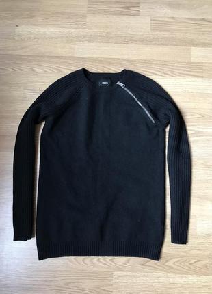 Черный шерстяной свитер asos