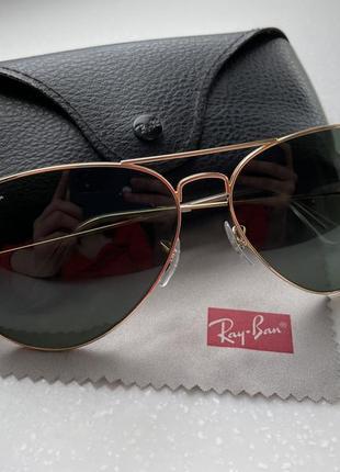 Ray-ban - очки солнцезащитные aviator large metal 3025 001/58 62