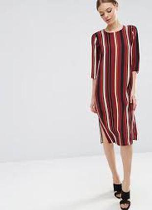 Платье миди в полоску asos