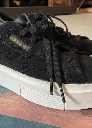 Adidas sleek super w кроссовки замшевые