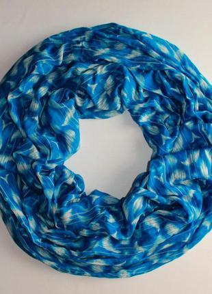 Яркий тканевый шарф хомут, снуд  из германии.