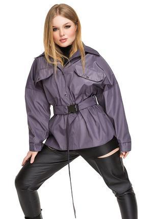 Куртка женская демисезонная, ветровка, пиджак, плащ паула / графит