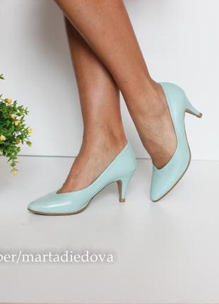 Кожаные классические туфли лодочки, натуральная кожа полностью