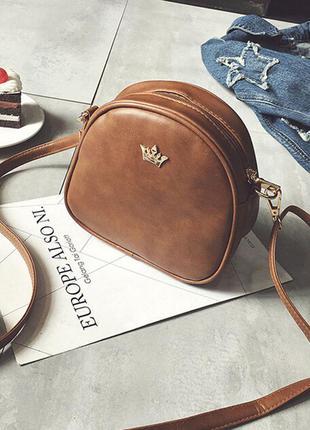 Цвета в наличии!! стильная коричневая сумка кроссбоди 2017 / клатч на длинном ремешке