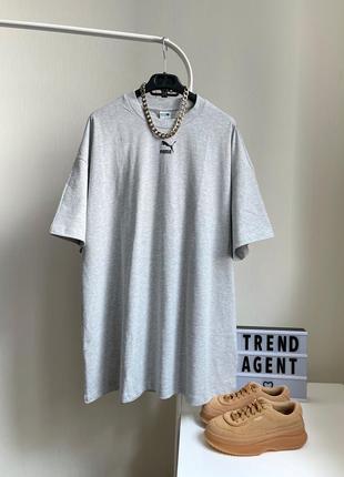 🖤стильное платье-футболка puma оригинал серое