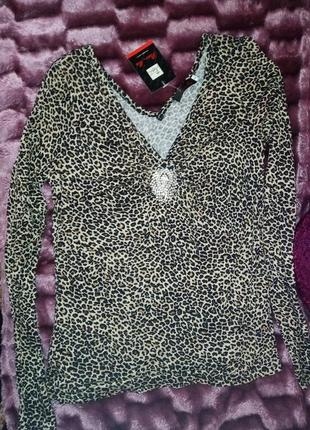 Кофточка леопардовая
