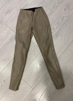 Кожаные штаны лосины леггинсы zara