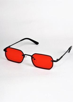Солнцезащитные очки crt 2224 красные с черным узкие.
