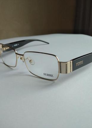 Фирменная оправа под линзы,очки с черными камнями swarovski оригинал g.ferre gf319 01