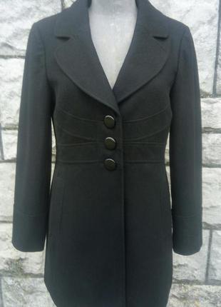 Фірмове чорне осіннє шерстяне пальто (george)