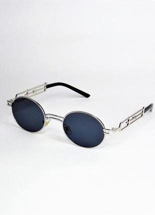 Солнцезащитные очки dr 8035 черные хром овальные.