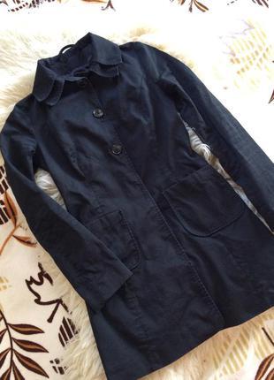 Чёрный хлопковый тренч длинный пиджак от phard