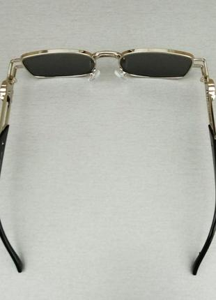 Versace модные узкие солнцезащитные очки зеркальные серый металлик5 фото