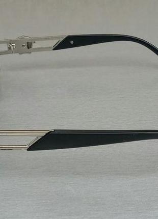 Versace модные узкие солнцезащитные очки зеркальные серый металлик3 фото