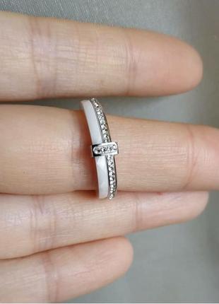 Кольцо белое керамическое колечко керамика7 фото