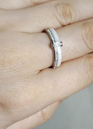 Кольцо белое керамическое колечко керамика4 фото