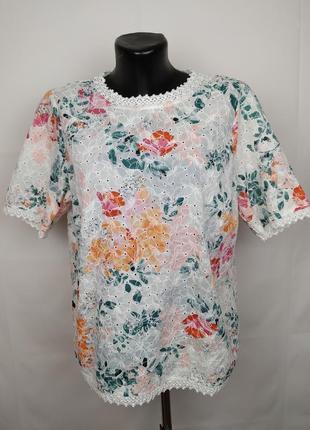 Блуза оригинальная кружевная marks&spencer uk 16