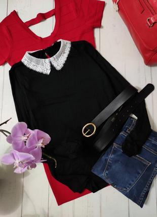 Блуза, блузка с кружевным воротничком, премиум бренд hallhuber оригинал.