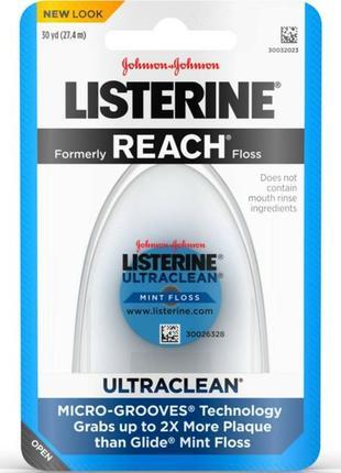 Зубная нить listerine ultraclean.  сша