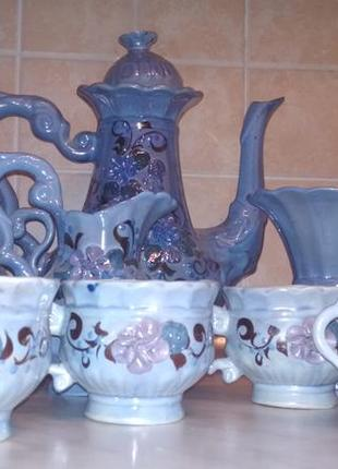 Кухонний сервіз, чайник, чашки