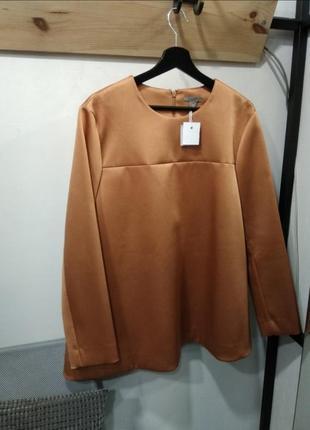 Плотная блуза бронзового цвета